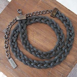 CALVIN KLEIN metal mesh braided belt